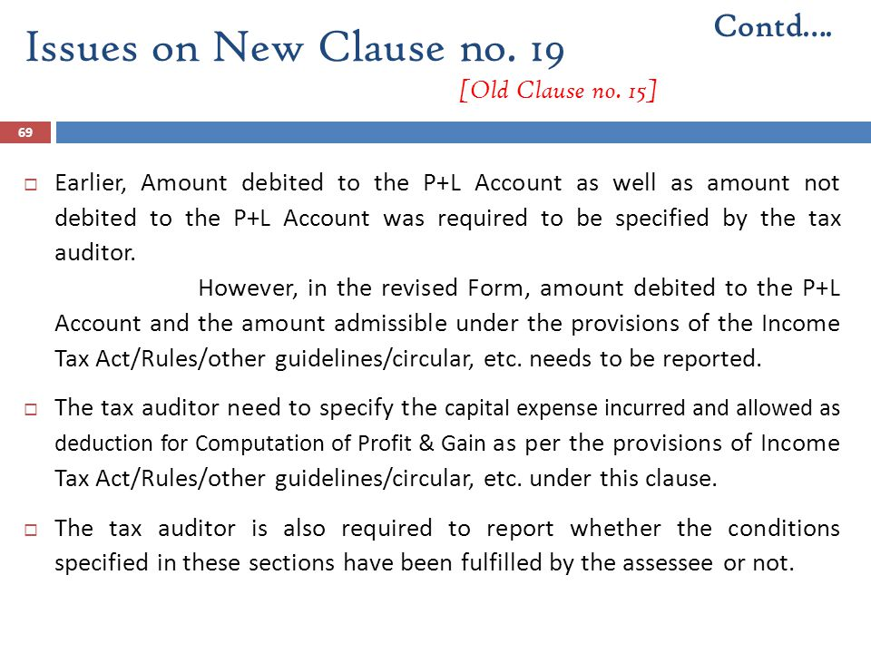 Issues on New Clause no. 19 [Old Clause no. 15]